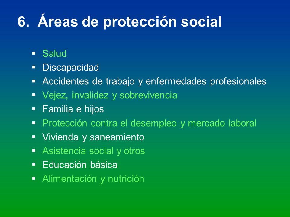 6. Áreas de protección social
