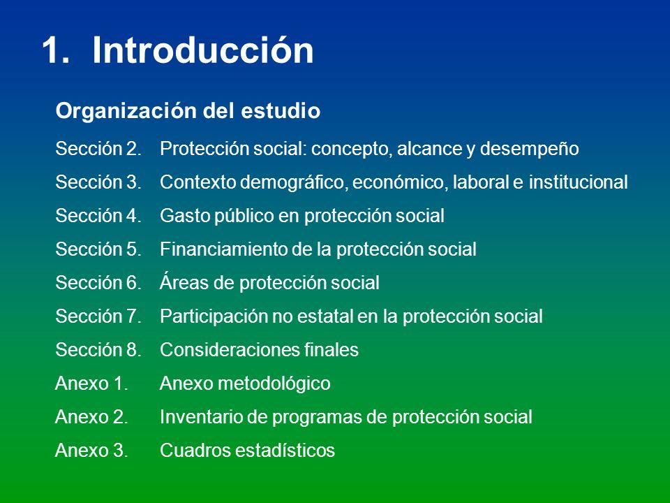 1. Introducción Organización del estudio