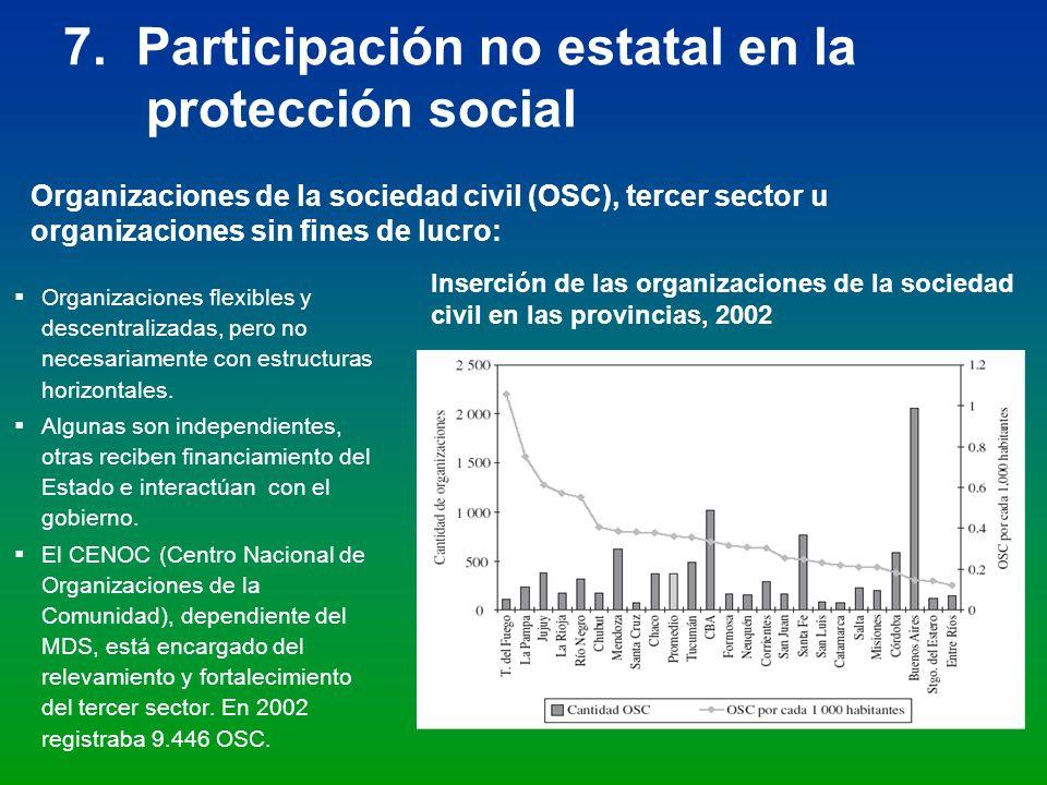 7. Participación no estatal en la protección social