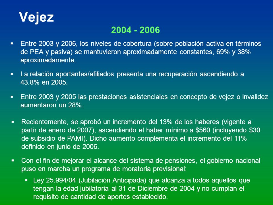 Vejez 2004 - 2006.