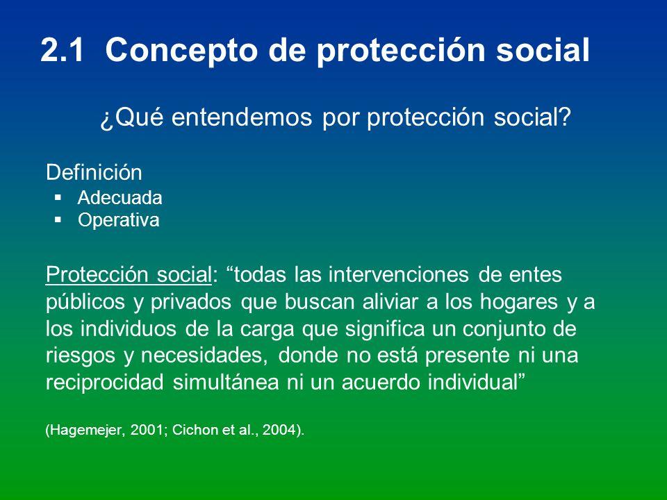 2.1 Concepto de protección social