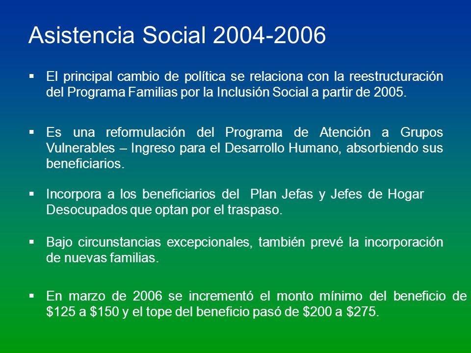 Asistencia Social 2004-2006