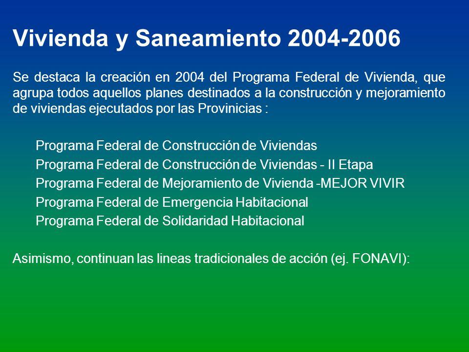 Vivienda y Saneamiento 2004-2006