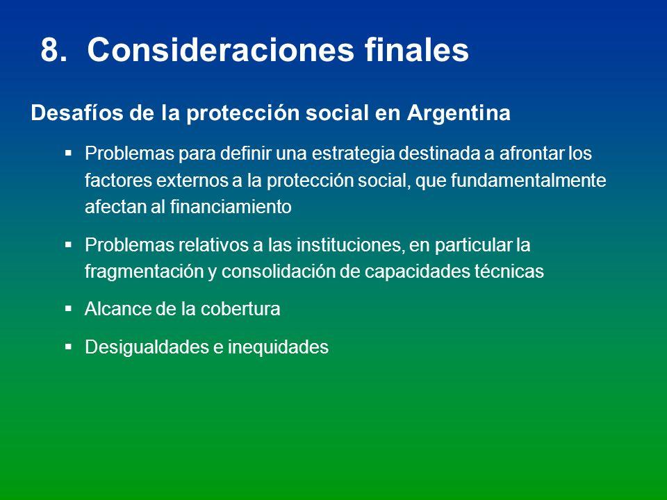 8. Consideraciones finales