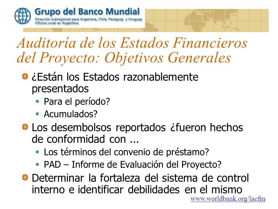 Auditoría de los Estados Financieros del Proyecto: Objetivos Generales