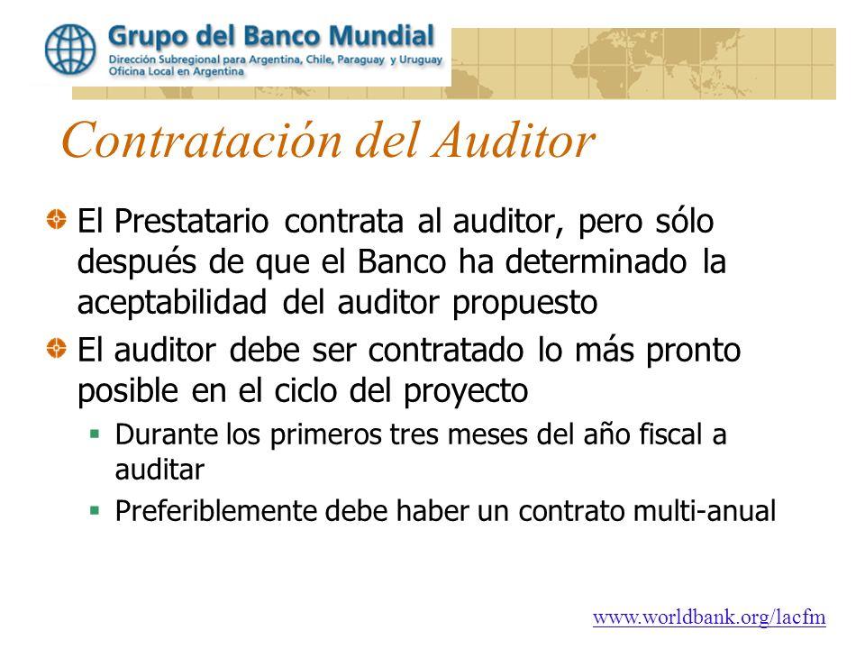 Contratación del Auditor