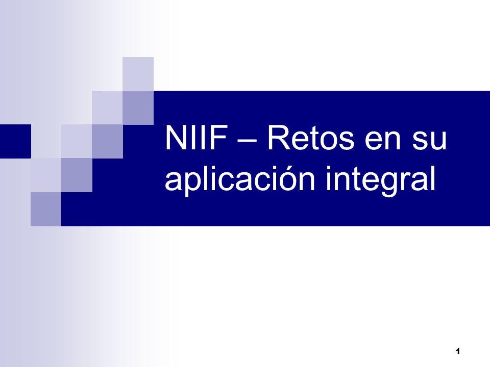 NIIF – Retos en su aplicación integral