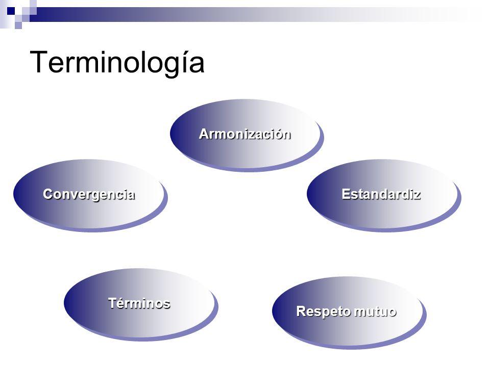 Terminología Armonización Convergencia Estandardiz Términos