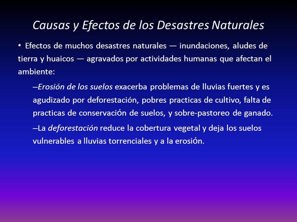 Causas y Efectos de los Desastres Naturales