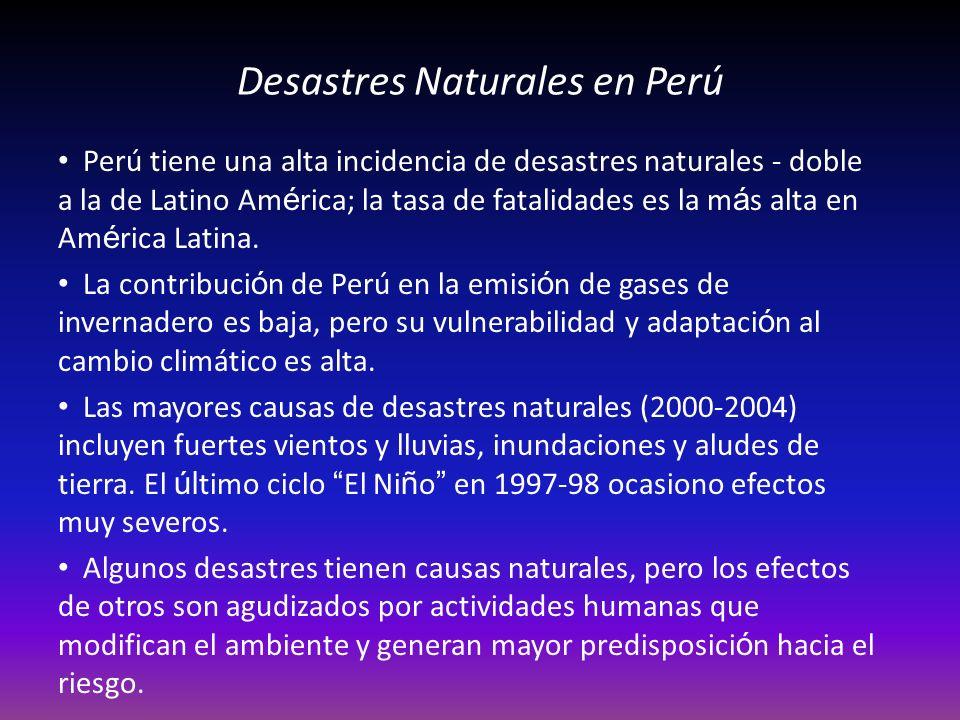 Desastres Naturales en Perú