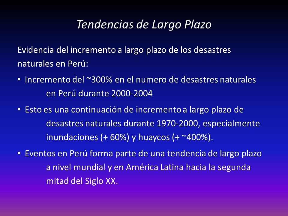 Tendencias de Largo Plazo