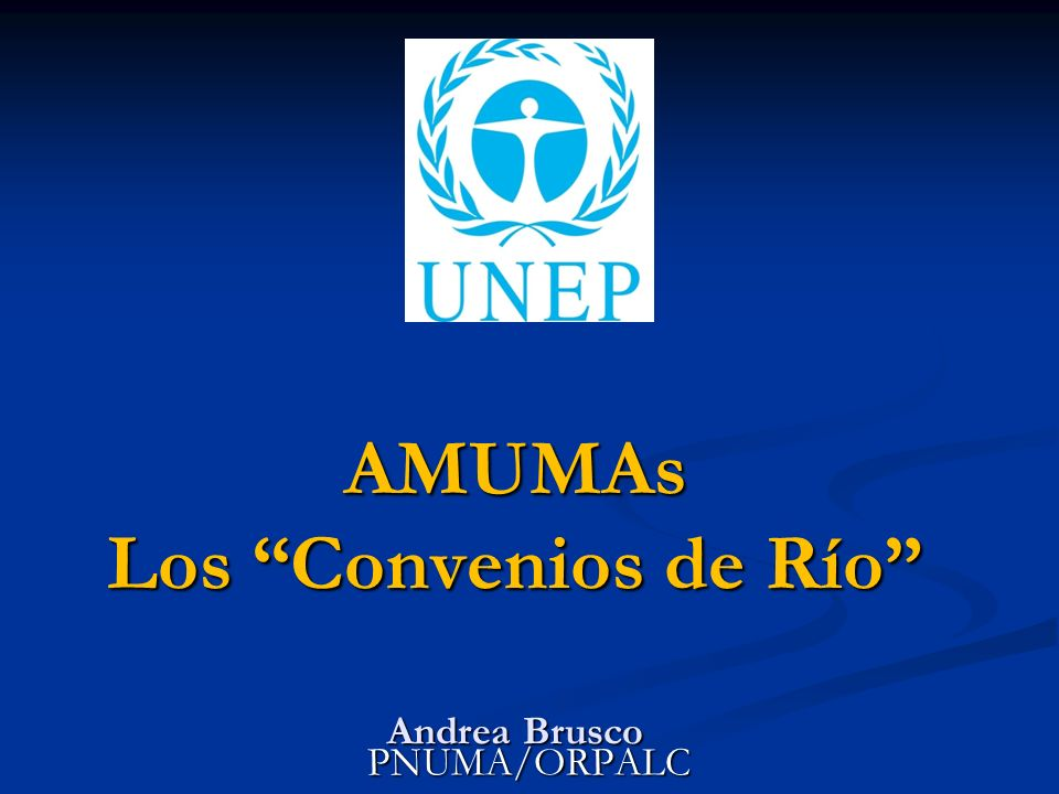 AMUMAs Los Convenios de Río Andrea Brusco