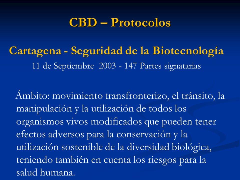 Cartagena - Seguridad de la Biotecnología