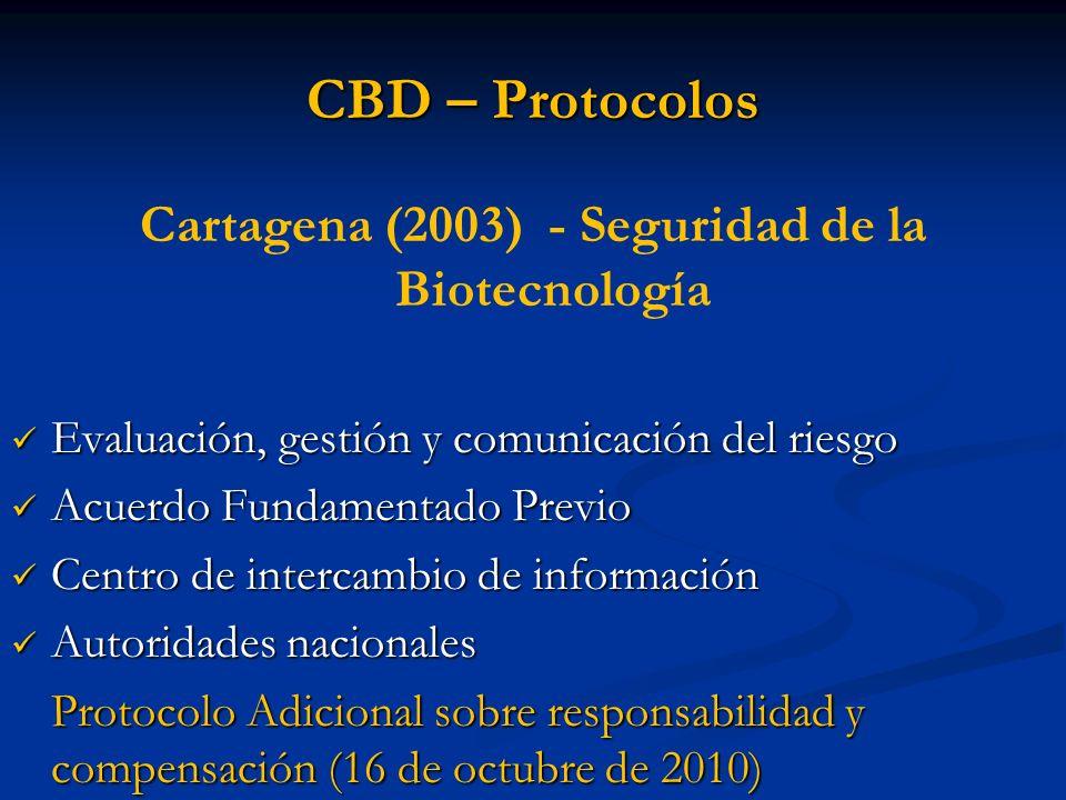 Cartagena (2003) - Seguridad de la Biotecnología