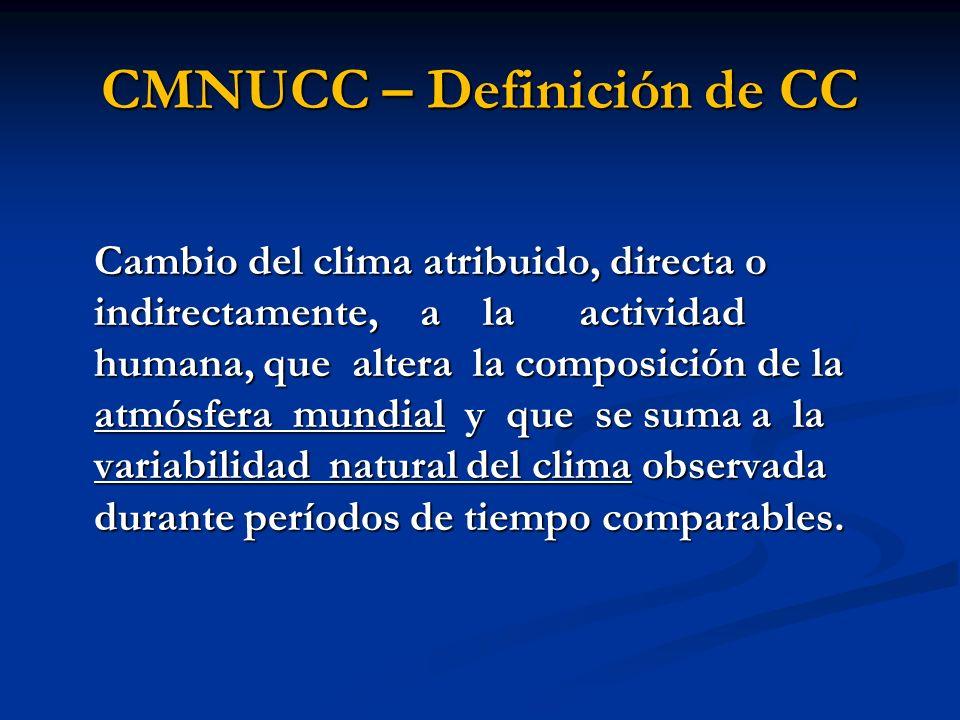 CMNUCC – Definición de CC