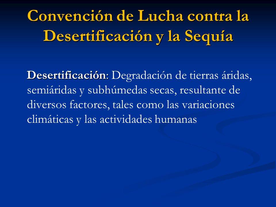 Convención de Lucha contra la Desertificación y la Sequía
