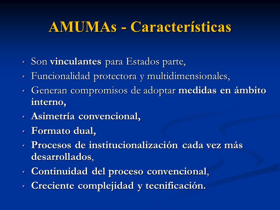 AMUMAs - Características