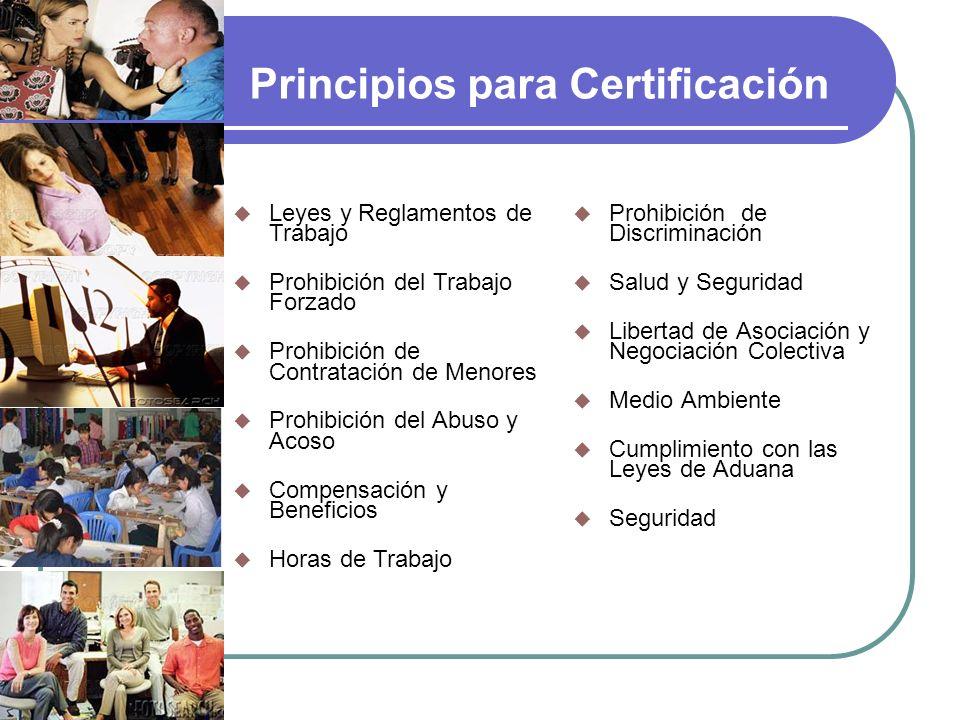 Principios para Certificación