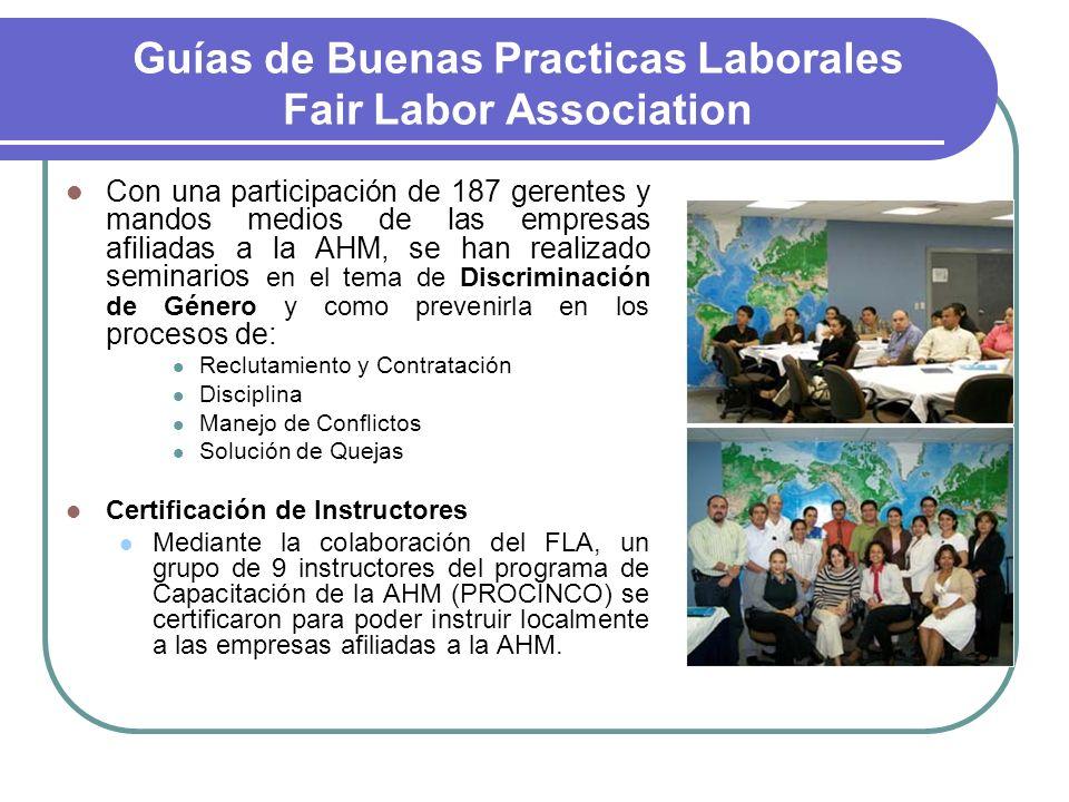 Guías de Buenas Practicas Laborales Fair Labor Association