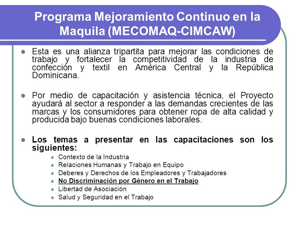 Programa Mejoramiento Continuo en la Maquila (MECOMAQ-CIMCAW)