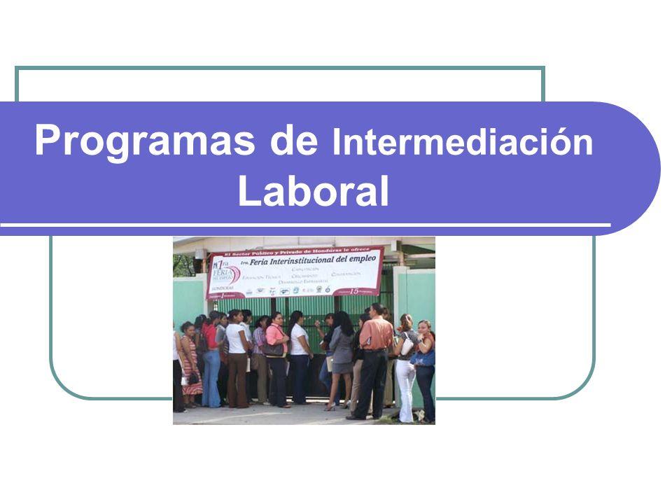 Programas de Intermediación Laboral