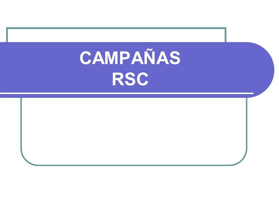 CAMPAÑAS RSC