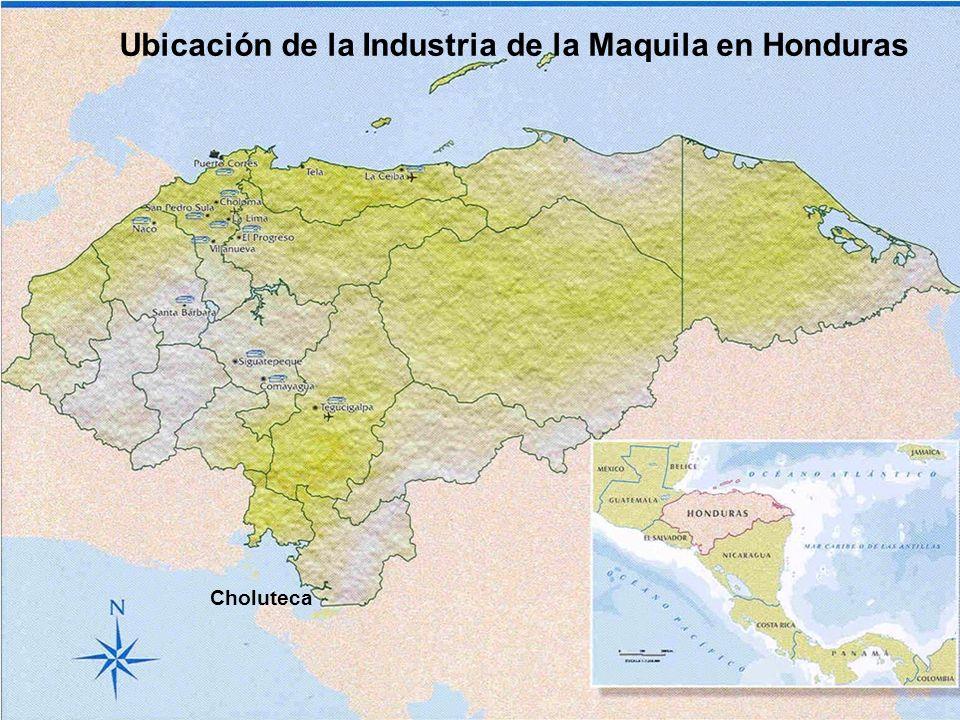 Ubicación de la Industria de la Maquila en Honduras