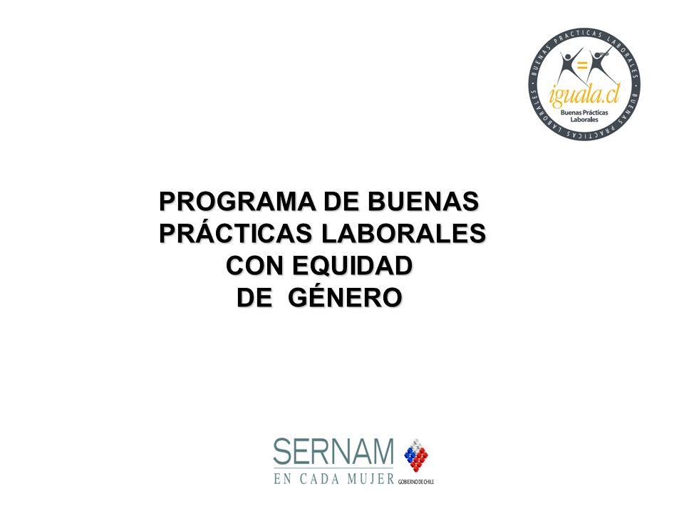 PROGRAMA DE BUENAS PRÁCTICAS LABORALES CON EQUIDAD DE GÉNERO