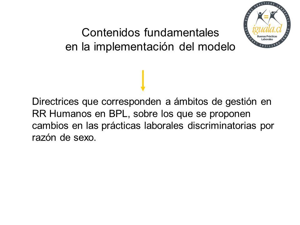 Contenidos fundamentales en la implementación del modelo