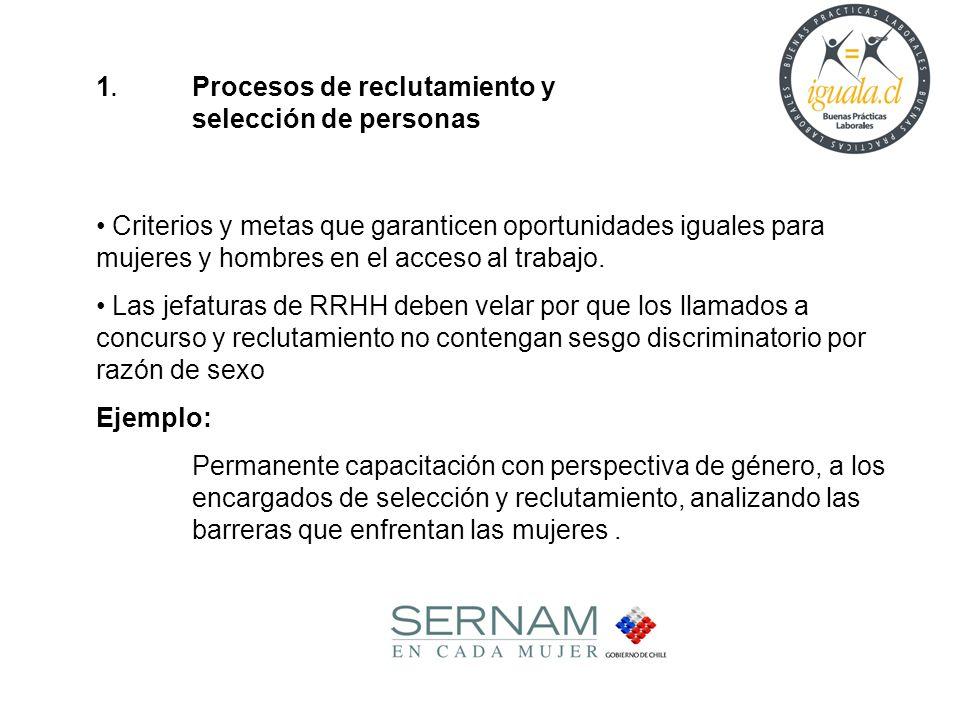1. Procesos de reclutamiento y selección de personas