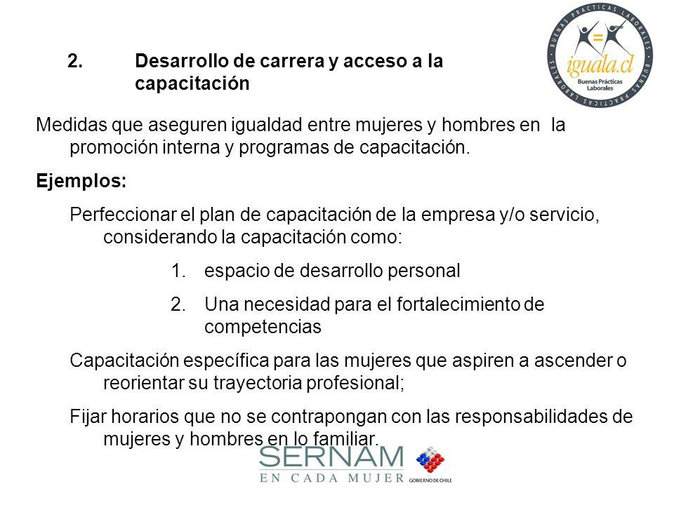 2. Desarrollo de carrera y acceso a la capacitación