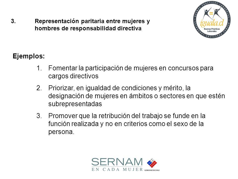 3. Representación paritaria entre mujeres y