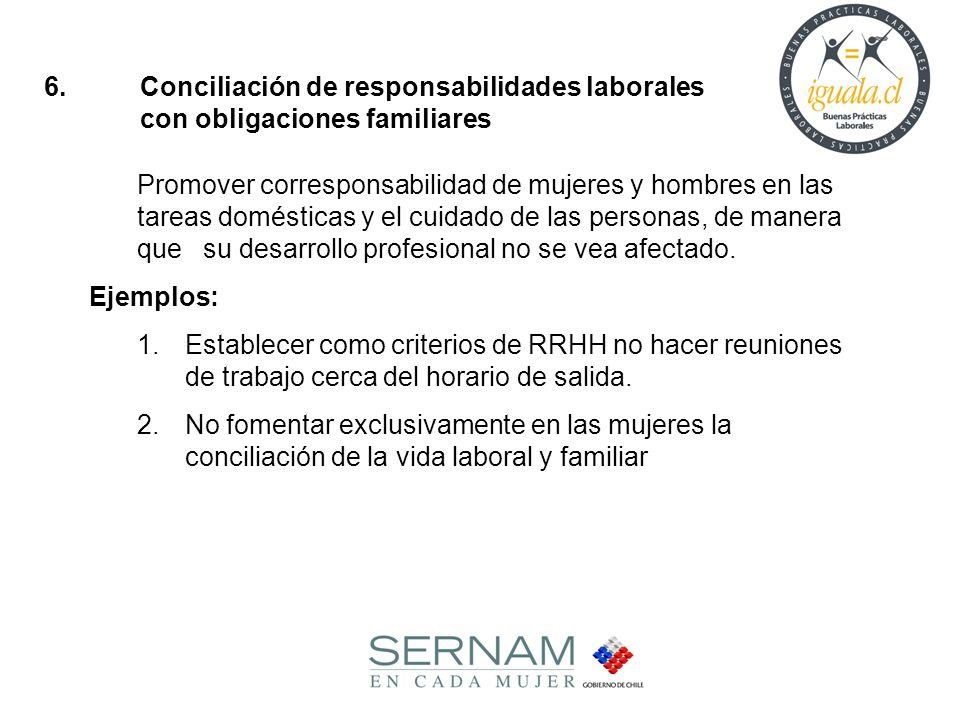6. Conciliación de responsabilidades laborales