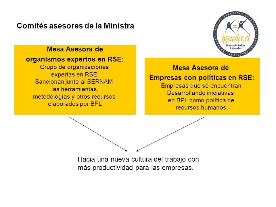 Comités asesores de la Ministra