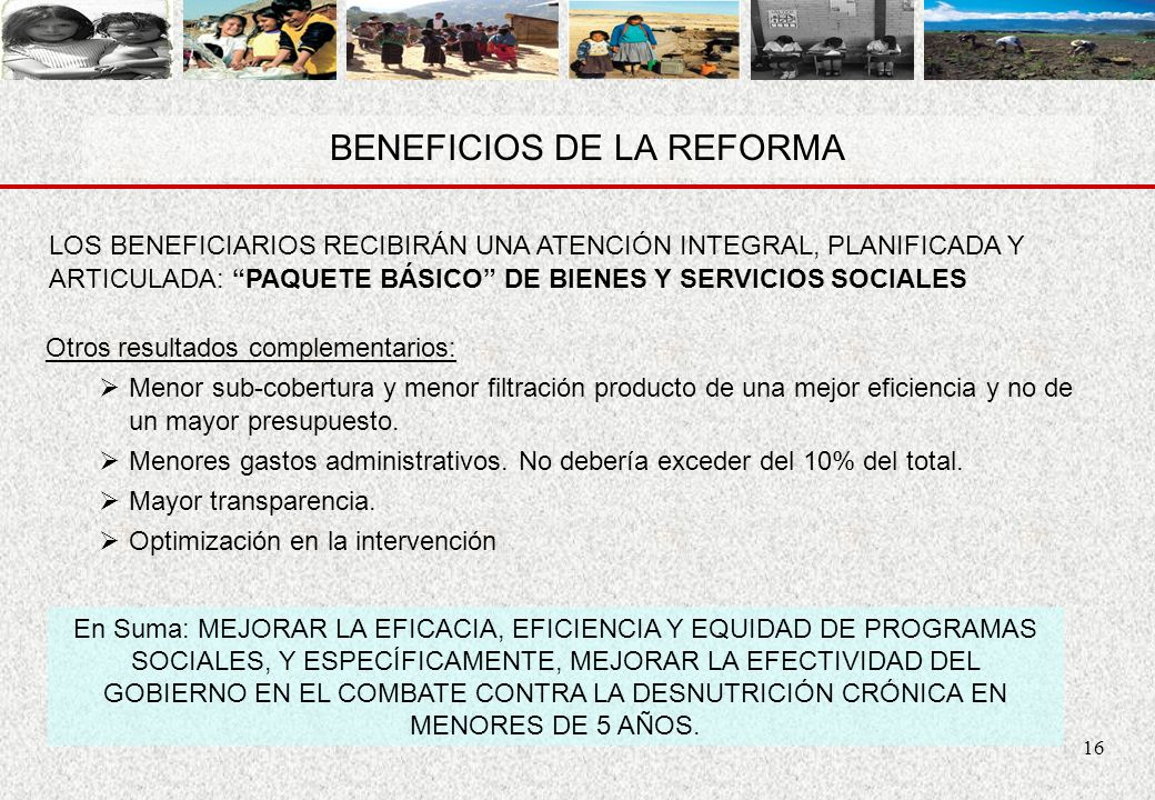 BENEFICIOS DE LA REFORMA
