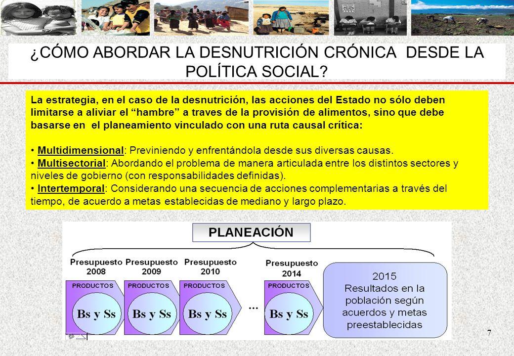 ¿CÓMO ABORDAR LA DESNUTRICIÓN CRÓNICA DESDE LA POLÍTICA SOCIAL