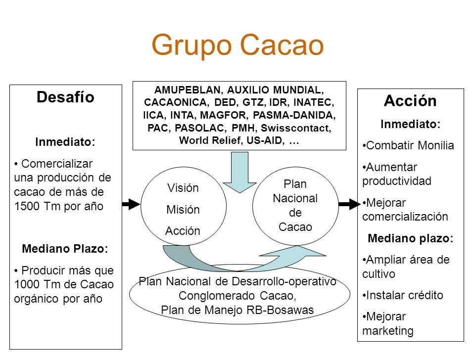 Grupo Cacao Desafío Acción Inmediato: Inmediato: Combatir Monilia