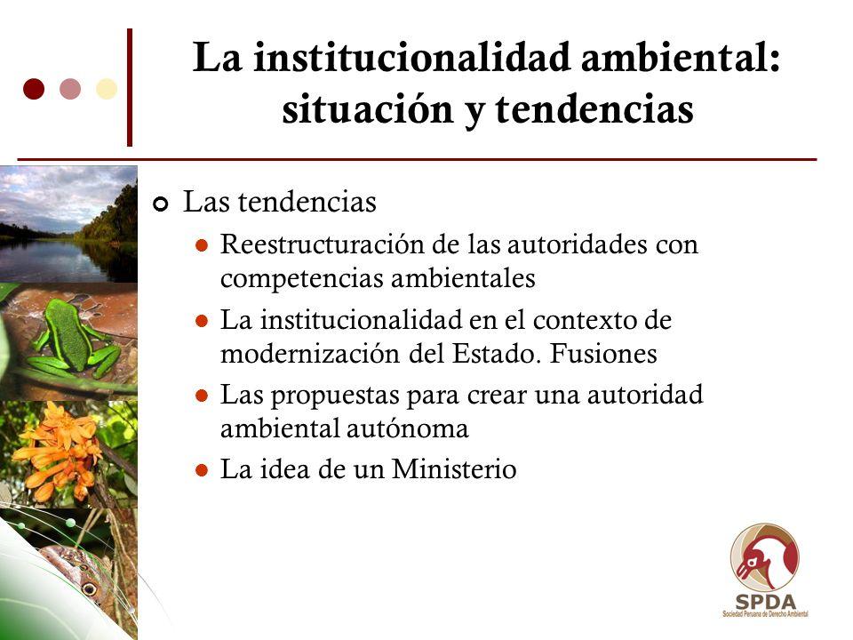 La institucionalidad ambiental: situación y tendencias