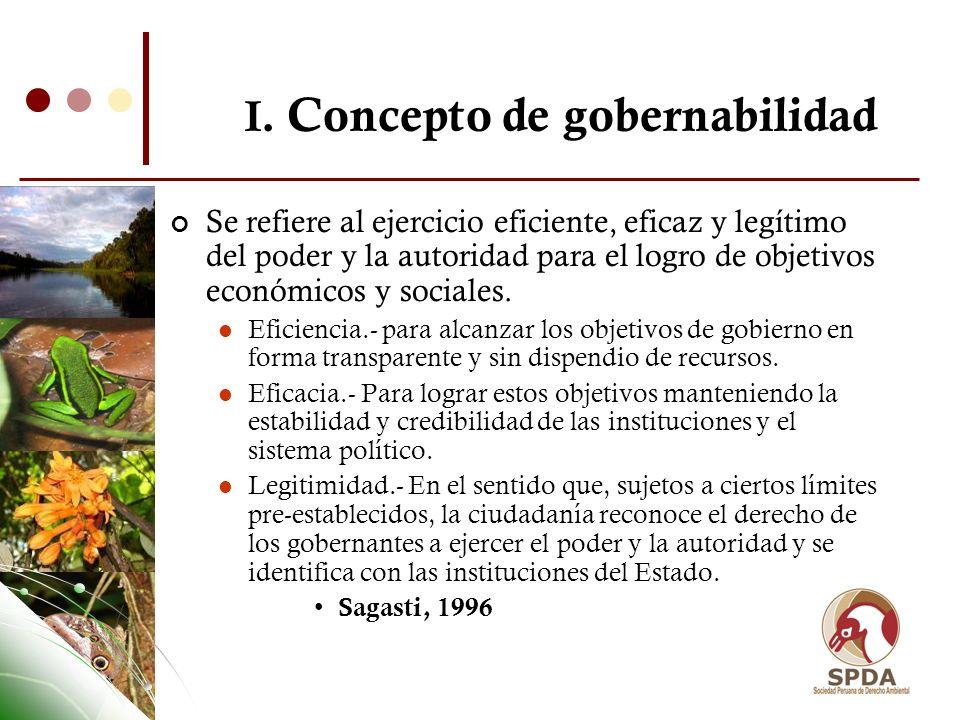 I. Concepto de gobernabilidad