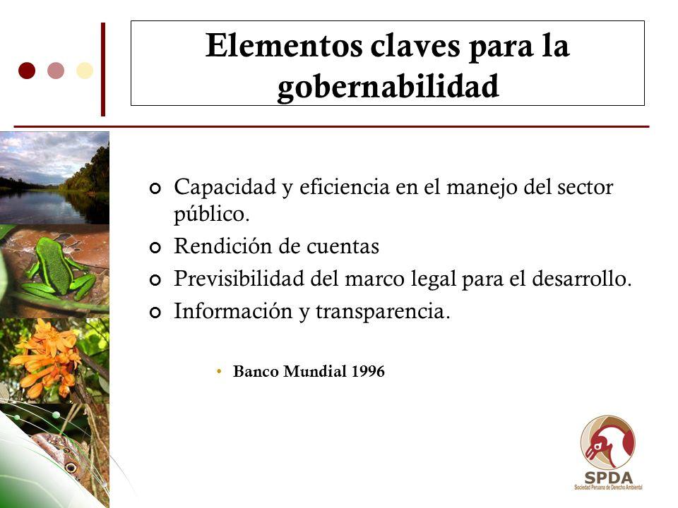 Elementos claves para la gobernabilidad