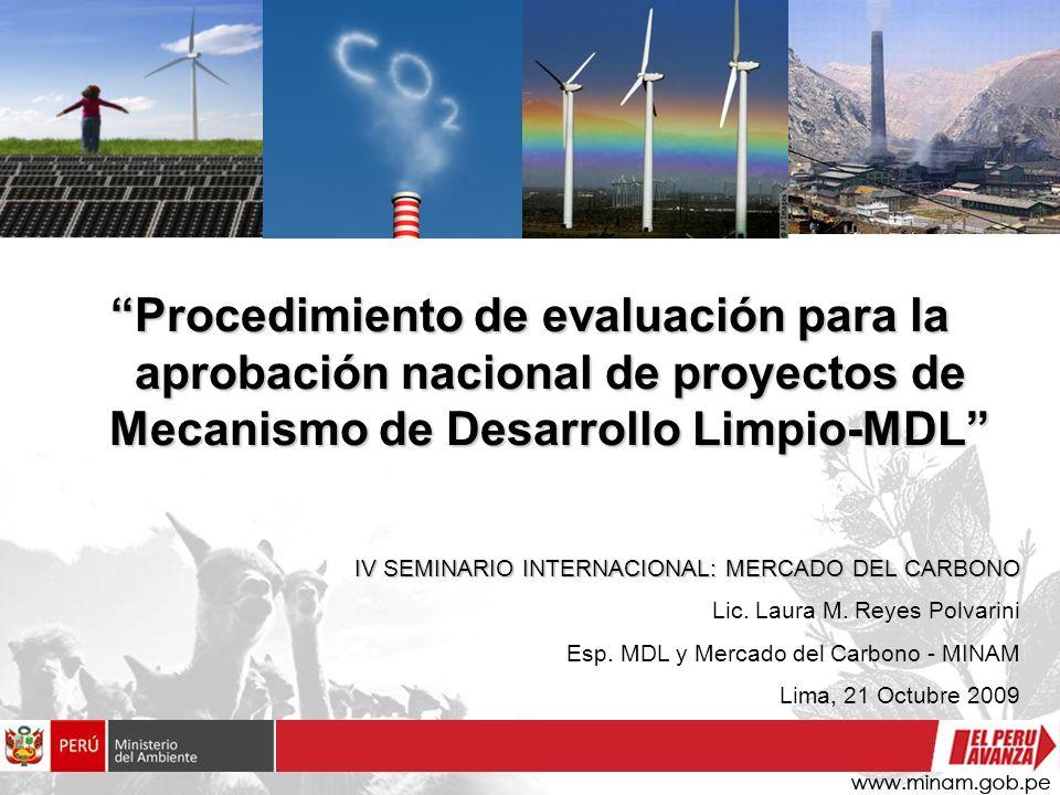 Procedimiento de evaluación para la aprobación nacional de proyectos de Mecanismo de Desarrollo Limpio-MDL