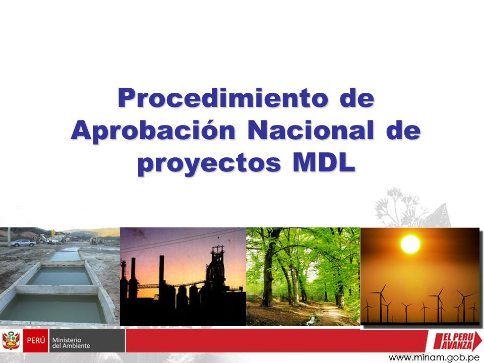 Procedimiento de Aprobación Nacional de proyectos MDL