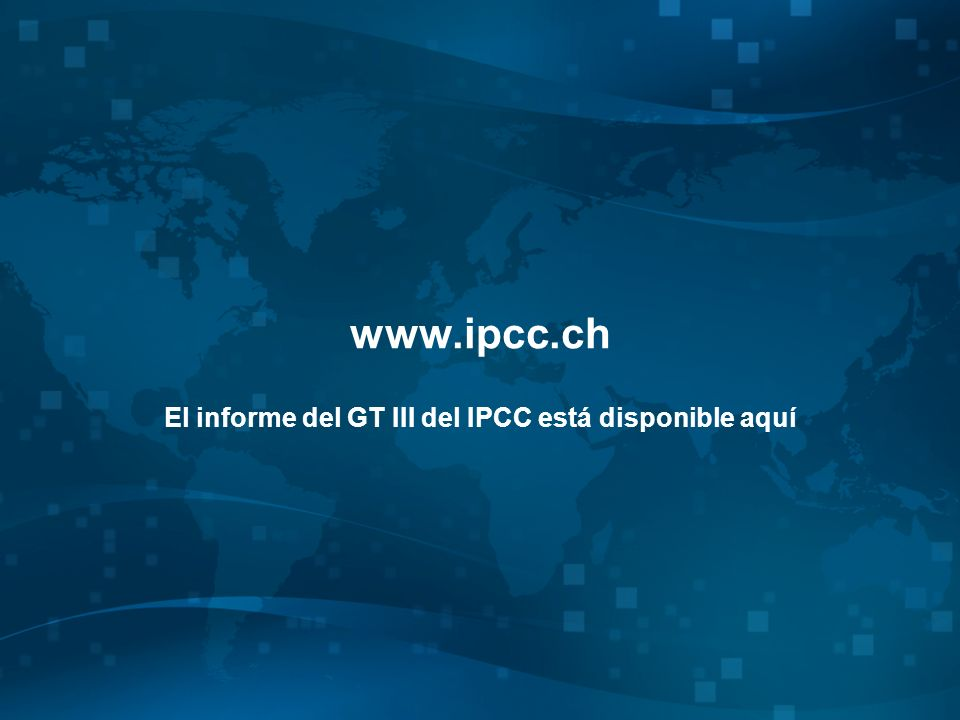 El informe del GT III del IPCC está disponible aquí