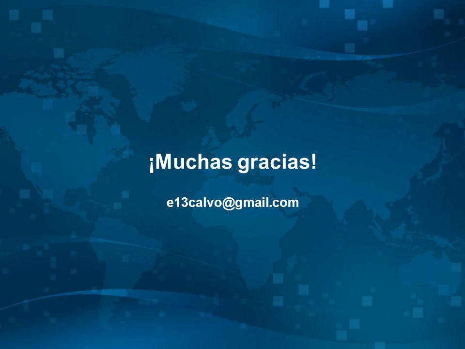 ¡Muchas gracias! e13calvo@gmail.com