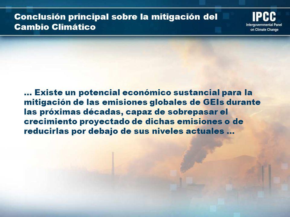 Conclusión principal sobre la mitigación del Cambio Climático