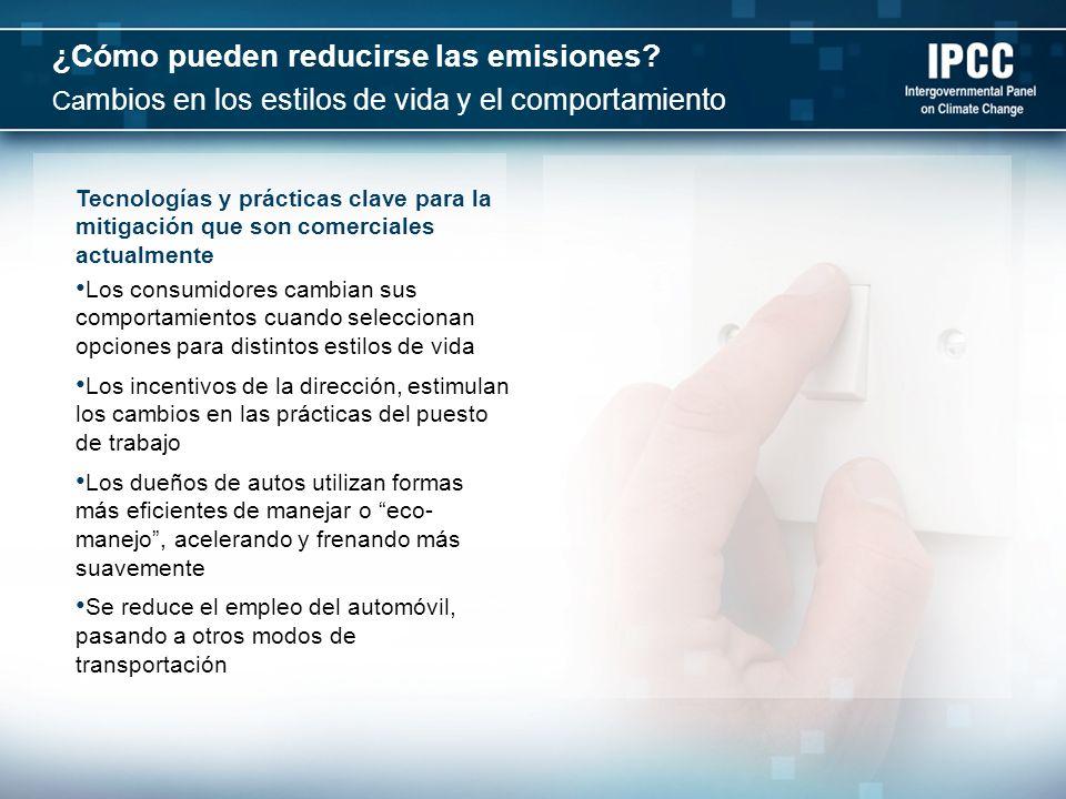 ¿Cómo pueden reducirse las emisiones