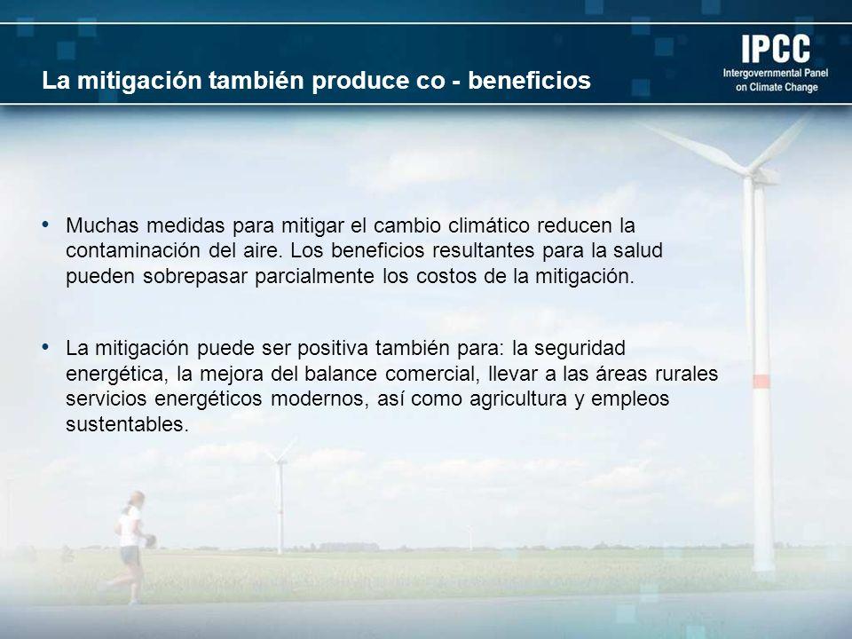 La mitigación también produce co - beneficios