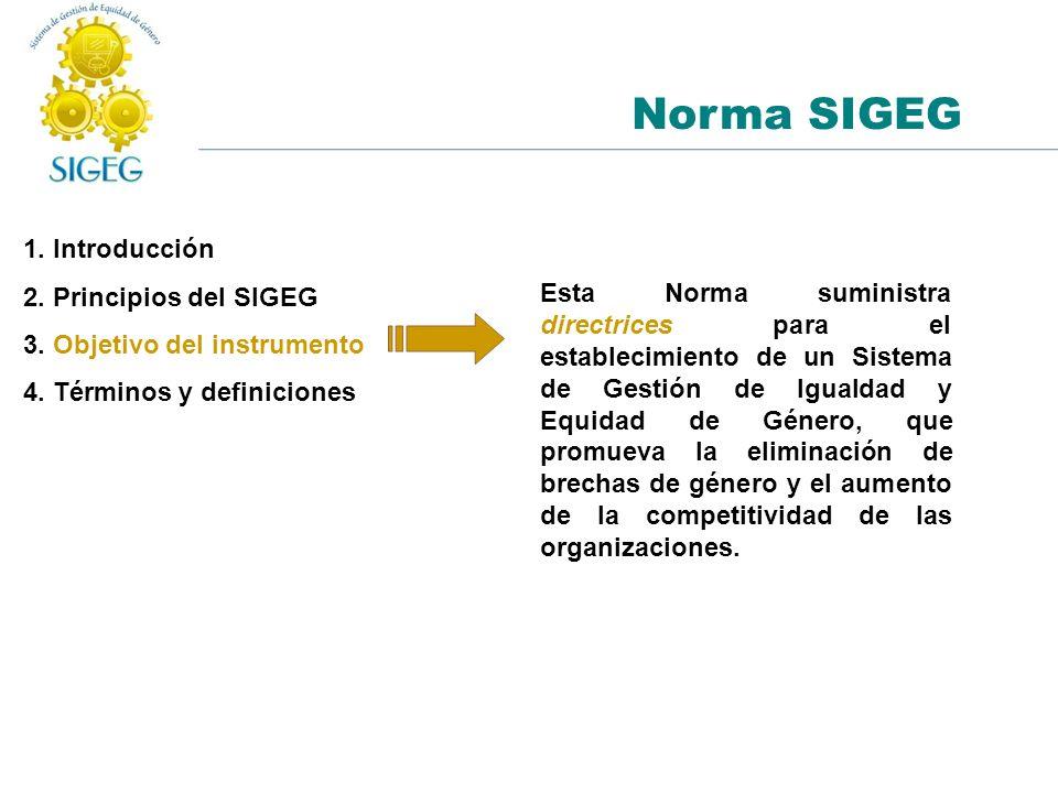 Norma SIGEG 1. Introducción 2. Principios del SIGEG