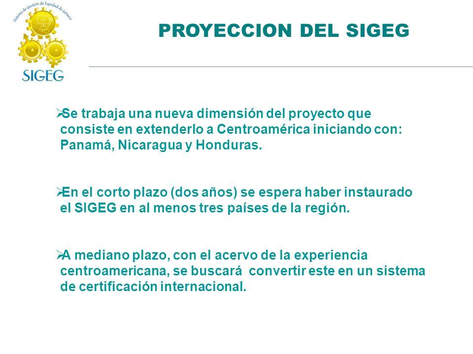 PROYECCION DEL SIGEG