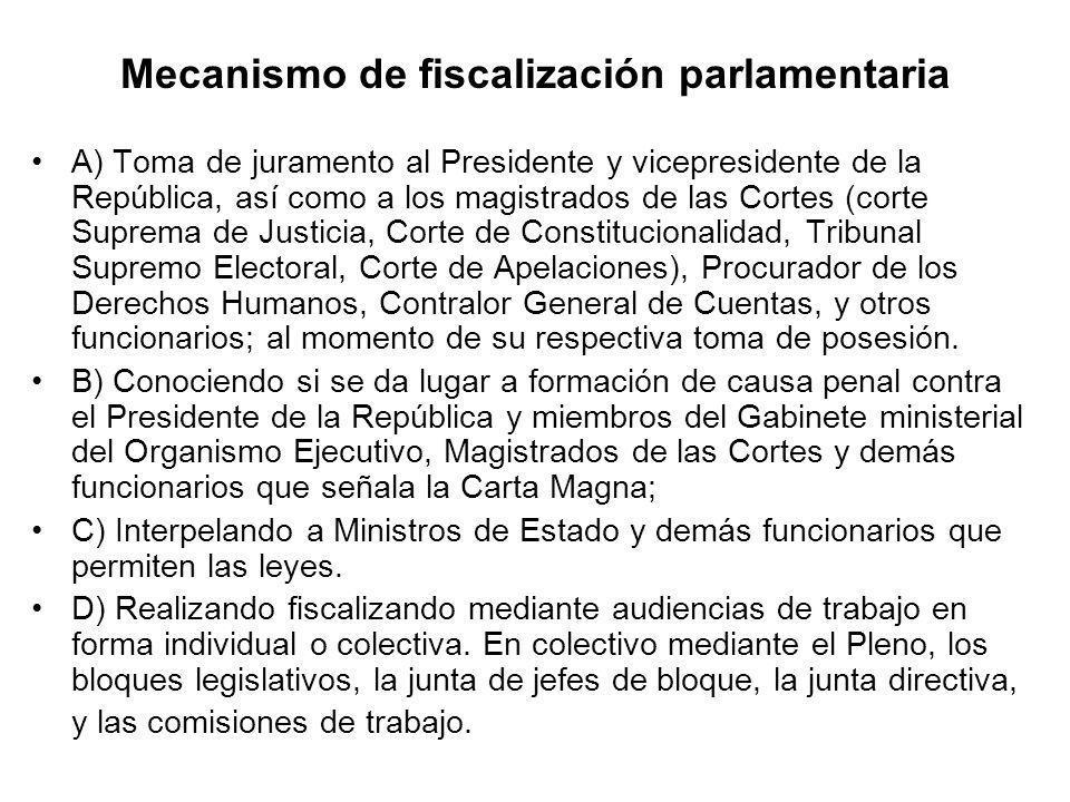 Mecanismo de fiscalización parlamentaria